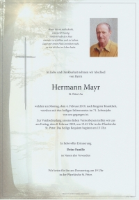 Mayr Hermann, St. Peter/Au
